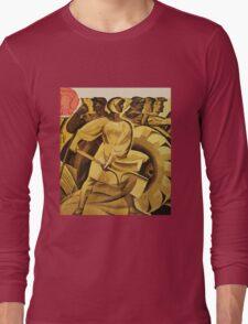 bread for us cccp sssr soviet union political propaganda revolution poster sculpture Long Sleeve T-Shirt