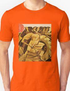 bread for us cccp sssr soviet union political propaganda revolution poster sculpture Unisex T-Shirt