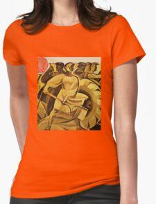 bread for us cccp sssr soviet union political propaganda revolution poster sculpture Womens Fitted T-Shirt