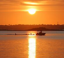 Boating At Sunset by JGetsinger