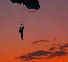 Skydiver at Sunset by JGetsinger