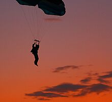 Skydiver at Sunset by JGetsinger