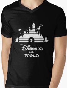 Disnerd and Proud (white) Mens V-Neck T-Shirt