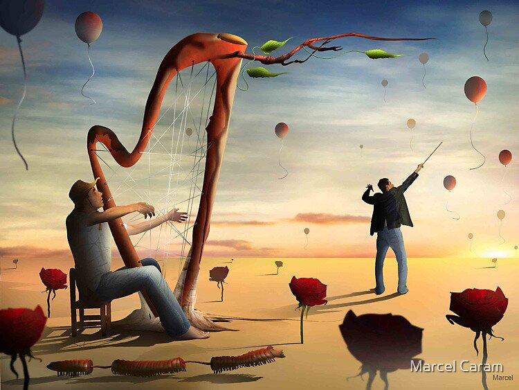 O Harpista e o Maestro. by Marcel Caram