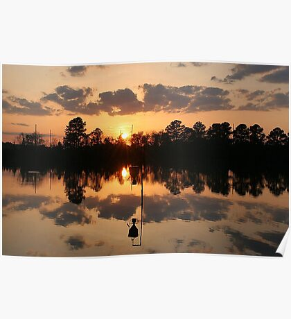 Sunset at River Park North Poster