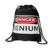 DANGER XENIUM FAKE ELEMENT FUNNY SAFETY SIGN SIGNAGE Drawstring Bag