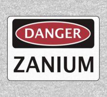 DANGER ZANIUM FAKE ELEMENT FUNNY SAFETY SIGN SIGNAGE One Piece - Short Sleeve