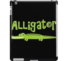 Alligator nerd geek funny geeky iPad Case/Skin