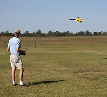Flying a Radio Controlled Helicopter by DMHImages