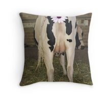 Udderly Bovine Throw Pillow