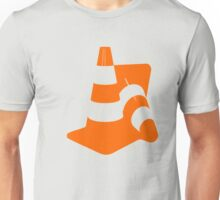 Traffic cones two safety pylons markers Unisex T-Shirt