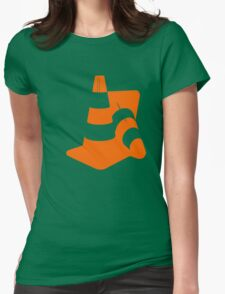 Traffic cones two safety pylons markers Womens Fitted T-Shirt