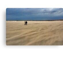 A windy beach walk Canvas Print