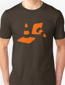 Traffic road cones safety pylons Whitc hat markers 2 Unisex T-Shirt