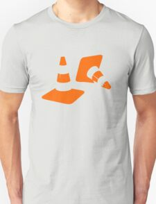 Traffic road cones safety pylons Whitc hat markers 2 T-Shirt