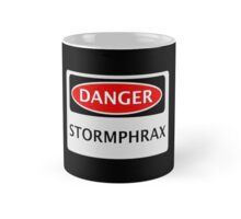 DANGER STORMPHRAX FAKE ELEMENT FUNNY SAFETY SIGN SIGNAGE Mug