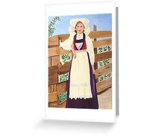 Hardanger Girl Greeting Card