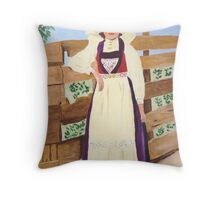 Hardanger Girl Throw Pillow