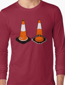 orange and black Traffic cones safety pylons Long Sleeve T-Shirt