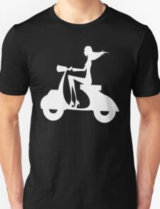Apo28 girl scooter nerd geek funny geeky T-Shirt