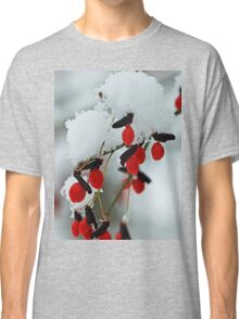Snowy Red Fruit Classic T-Shirt