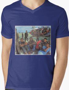 Refugee Boat Mens V-Neck T-Shirt