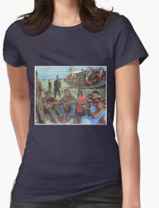 Refugee Boat Womens Fitted T-Shirt