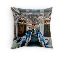 Taking The Train Throw Pillow