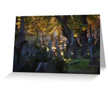 Kensal Green Cemetery in Autumn. Greeting Card
