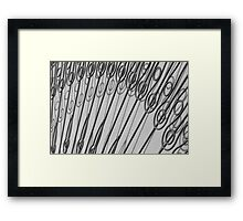 Scrolls and Shadows Framed Print