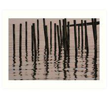 Reflected Poles at Sunrise Art Print