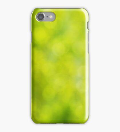 Green bokeh iPhone Case/Skin