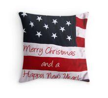 An American Christmas greeting Throw Pillow