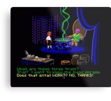 Asking about the Three Trials (Monkey Island 1) Metal Print