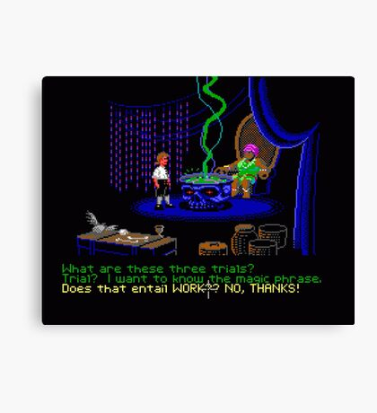 Asking about the Three Trials (Monkey Island 1) Canvas Print
