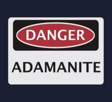 DANGER ADAMANITE FAKE ELEMENT FUNNY SAFETY SIGN SIGNAGE One Piece - Short Sleeve