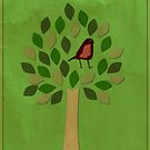 Bird in Tree by surlana
