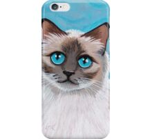 Topaz: Blue Eyed Ragdoll Cat iPhone Case/Skin