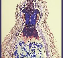 Black and Blue dress by AnnestiMeets