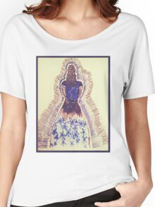 Black and Blue dress Women's Relaxed Fit T-Shirt