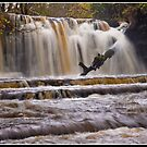 Scarloom Waterfall in spate by Shaun Whiteman