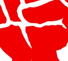 Socialist Raised Fist and Star Sticker