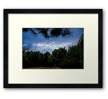 I Do Set My Bow in the Cloud. Framed Print