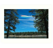 CHA over Harry Wright Lake Art Print
