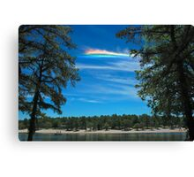 CHA over Harry Wright Lake Canvas Print