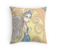 Fantasy big eyes Angel artwork Throw Pillow