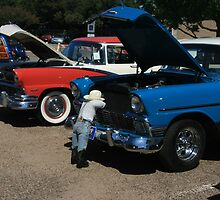 Creative Display at Antique Car Show by Susan Russell