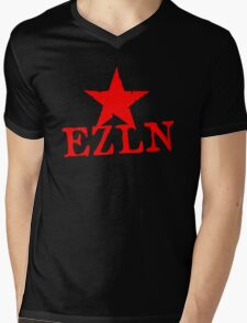 EZLN Red Star Mens V-Neck T-Shirt