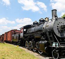 Old Black Steam Engine by dbvirago