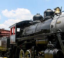 Old Black Steam Engine Sticker